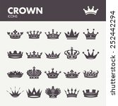 crown. icons set in vector