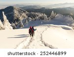 winter trekking in carpathian... | Shutterstock . vector #252446899