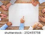 business  people and team work... | Shutterstock . vector #252455758