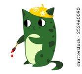 vector illustration of a cat... | Shutterstock .eps vector #252460090