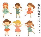 colorful collection of cute... | Shutterstock .eps vector #252469339