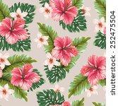 amazing seamless hawaiian... | Shutterstock .eps vector #252475504