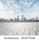 Modern Square With Skyline And...