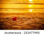 Sunset Beach Under Warm Light....
