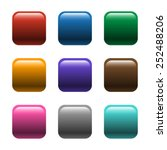 shiny square color buttons... | Shutterstock .eps vector #252488206