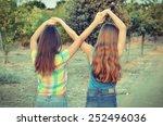 best friends forever   two 12... | Shutterstock . vector #252496036