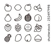 fruit icons   vector... | Shutterstock .eps vector #252497998