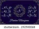vintage monogram design... | Shutterstock .eps vector #252500068