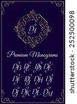 vintage monogram design... | Shutterstock .eps vector #252500098