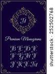 vintage monogram design... | Shutterstock .eps vector #252502768