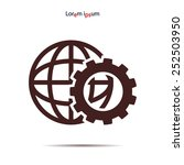setting parameters  globe icon... | Shutterstock .eps vector #252503950