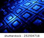 blue glowing futuristic... | Shutterstock . vector #252504718