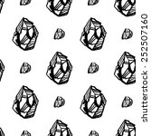 black and white crystals...   Shutterstock .eps vector #252507160