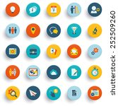 color icons on buttons. flat... | Shutterstock .eps vector #252509260