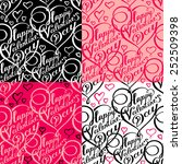 seamless pattern with lettering ... | Shutterstock .eps vector #252509398