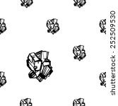 black and white crystals... | Shutterstock .eps vector #252509530