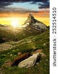 Matterhorn In The Sunset  ...