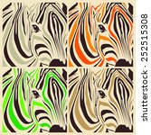 art collage of different... | Shutterstock . vector #252515308
