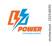 power   vector logo template... | Shutterstock .eps vector #252518050