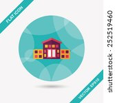building house flat icon with... | Shutterstock .eps vector #252519460