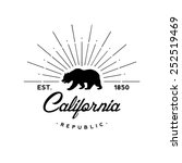california republic retro emblem | Shutterstock .eps vector #252519469