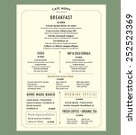 menu design for breakfast... | Shutterstock .eps vector #252523369
