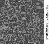 vector pattern of shopping... | Shutterstock .eps vector #252530413