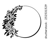 decorative round frame with...   Shutterstock .eps vector #252531529