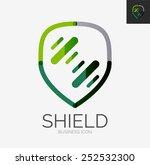 minimal line design logo ... | Shutterstock .eps vector #252532300