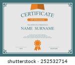 vector certificate template. | Shutterstock .eps vector #252532714