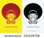 army gas mask  with afro hair...