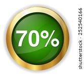 70 percent icon | Shutterstock .eps vector #252540166