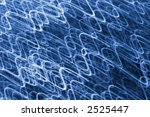 Blue waves of light background. - stock photo