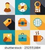 travel icons flat for design... | Shutterstock .eps vector #252551884