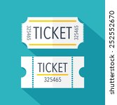 tickets icon. flat design.... | Shutterstock .eps vector #252552670