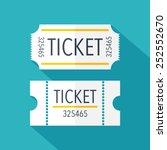 tickets icon. flat design.... | Shutterstock .eps vector #252552670