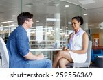 shot of two young professionals ... | Shutterstock . vector #252556369