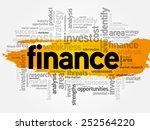 finance word cloud  business... | Shutterstock .eps vector #252564220