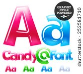 children's candy font. set of... | Shutterstock .eps vector #252581710