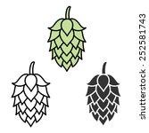 hop beer sign symbol label | Shutterstock .eps vector #252581743