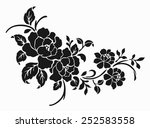 rose motif flower design... | Shutterstock .eps vector #252583558
