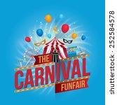 vector carnival funfair design. | Shutterstock .eps vector #252584578