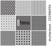 8 patterns   black and with | Shutterstock .eps vector #252586954
