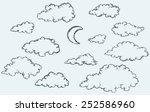 vector monochrome freehand... | Shutterstock .eps vector #252586960