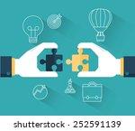 concept banner of team work ... | Shutterstock .eps vector #252591139