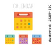 vector calendar icons.