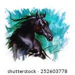 Black Beauty Horse Dramatic...