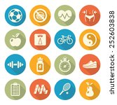 health and fitness icons | Shutterstock . vector #252603838