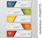 design clean number banners... | Shutterstock .eps vector #252605770