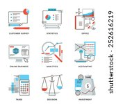 thin line icons of business...   Shutterstock .eps vector #252616219